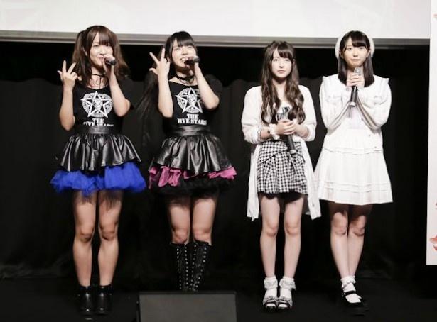 10月7日(金)スタートの「魁!アイドル塾」に出演する(左から)Splash!、少女隊