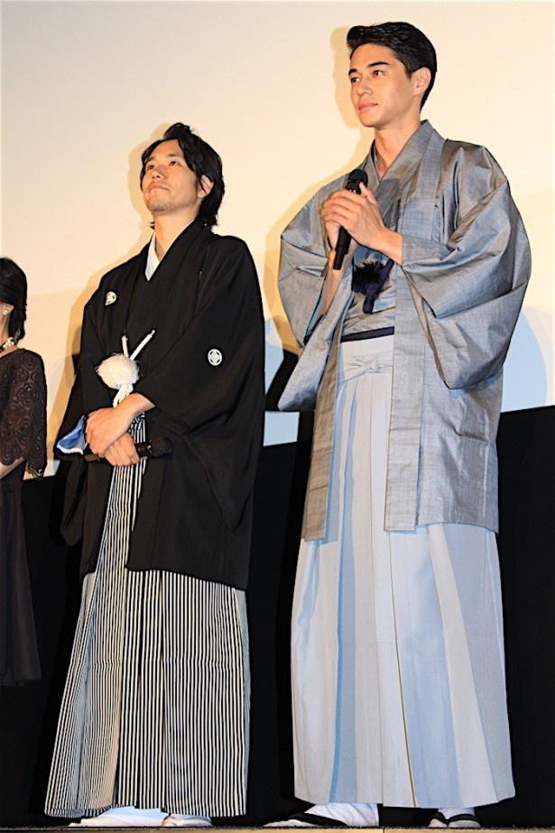 【写真を見る】松山ケンイチ、東出昌大が和装で登場!