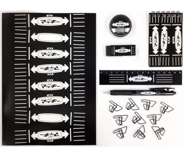 """マッキーデザインを盛り込んだ7種類の""""マッキー文具""""は10月26日(水)から数量限定で発売"""