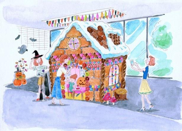 大人も入れる2mのお菓子の家が登場!まるで童話の世界だ
