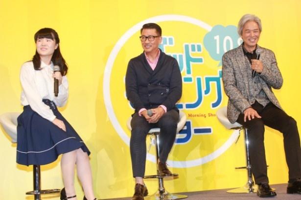 ワイドショーのような形で中井貴一と時任三郎が映画について語った