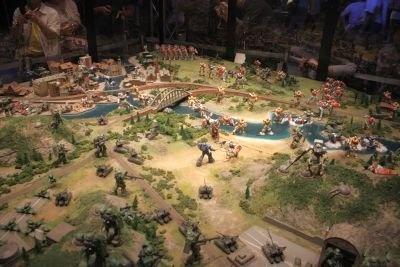 オデッサの戦いをジオラマに