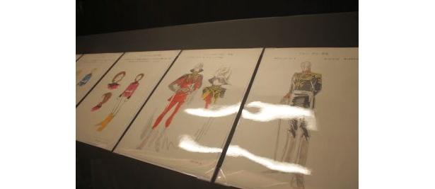 安彦良和氏によるキャラクター原案も展示