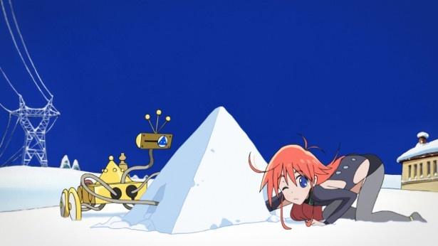 TVアニメ「フリップフラッパーズ」第1話先行カットが到着。2人の少女は運命的な出会いを果たす