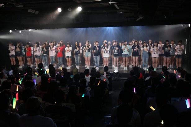 「SKE48劇場デビュー8周年特別公演」、アンコールはメンバーが各期のTシャツを着て登場