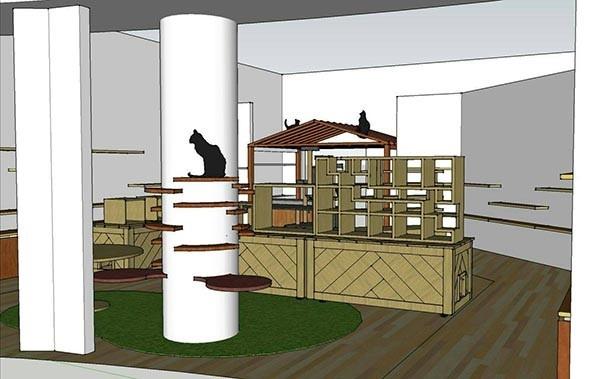 コンセプトは「猫の遊び場」の店内(イメージ)。 ※お店に、生きた猫はいません。猫の連れ込みも禁止
