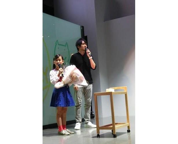 10歳の遠藤璃菜に中村悠一がライバル心むき出し!「甘々と稲妻」トークイベントレポート
