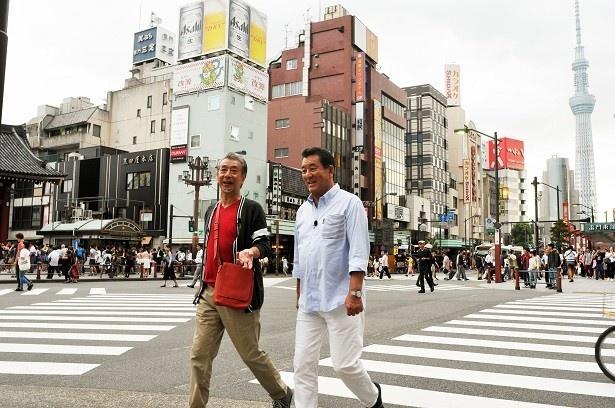 高田と加山は変わりゆく東京の風景を堪能!