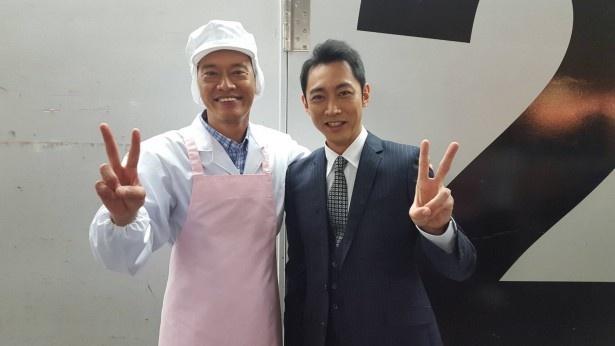 意外にも初共演の遠藤憲一と小泉孝太郎