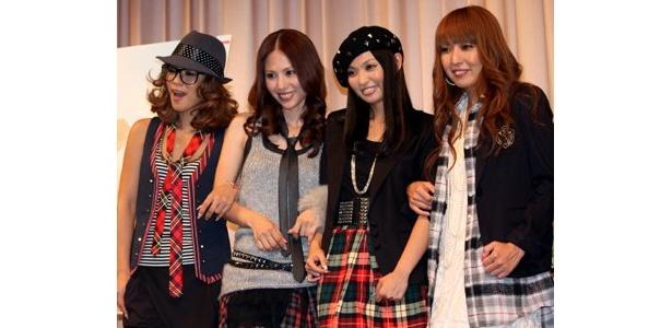 8/24、映画「女の子ものがたり」のトークイベントに登場し、4人の友情を語った「MAX」