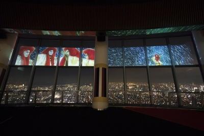 東京夜景と臨場感あふれる映像がコラボレーション