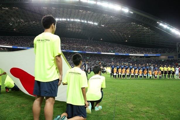 会場の埼玉スタジアム2002は満員となった
