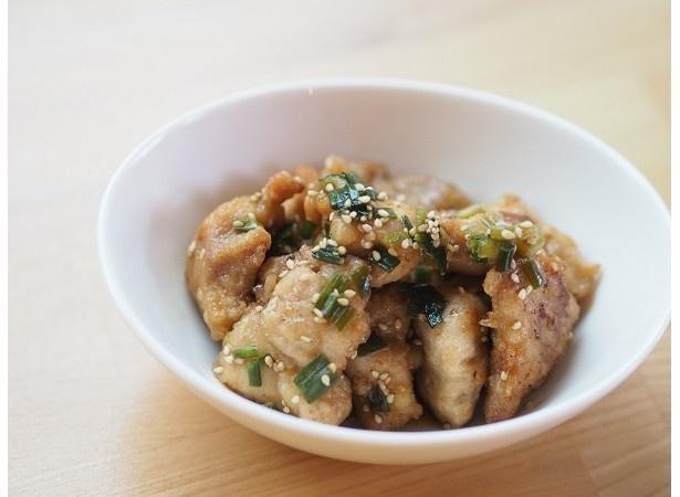 揚げたても冷めても美味しい「鶏から揚げごまねぎポン酢」(P.12)
