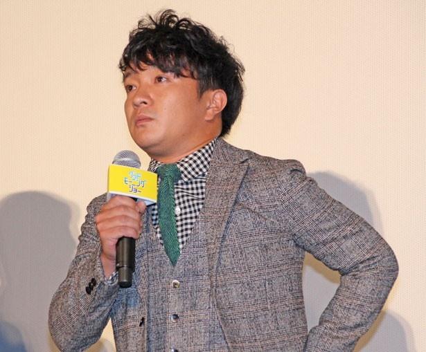 立てこもり事件の犯人を演じた、濱田岳。「思い切り立てこもらせていただきました!」