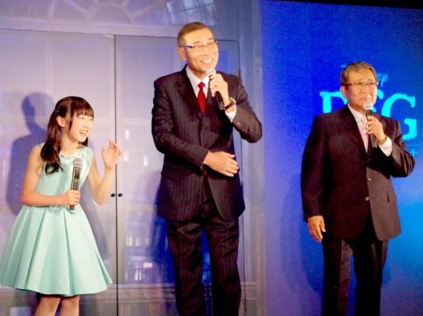 賑やかなトークを繰り広げる本田望結とオール阪神・巨人
