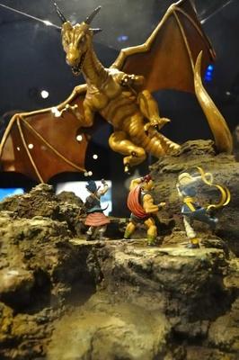 ドラゴンの迫力や躍動感も再現