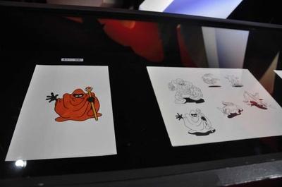 鳥山明の原画も展示。貴重な資料だ