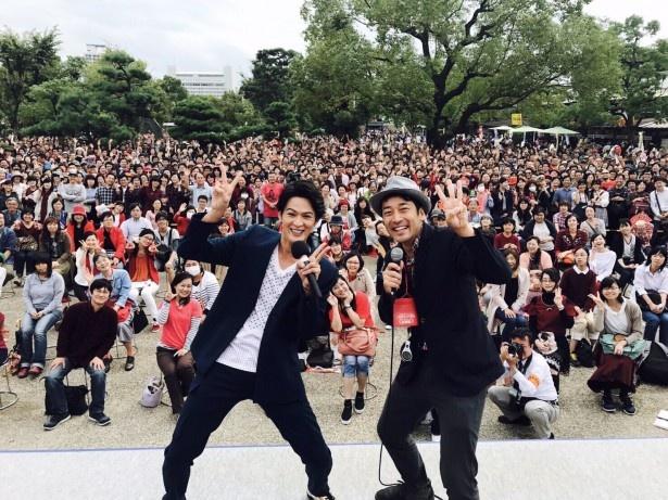 大阪城公園では新納慎也がトークショーを開催!