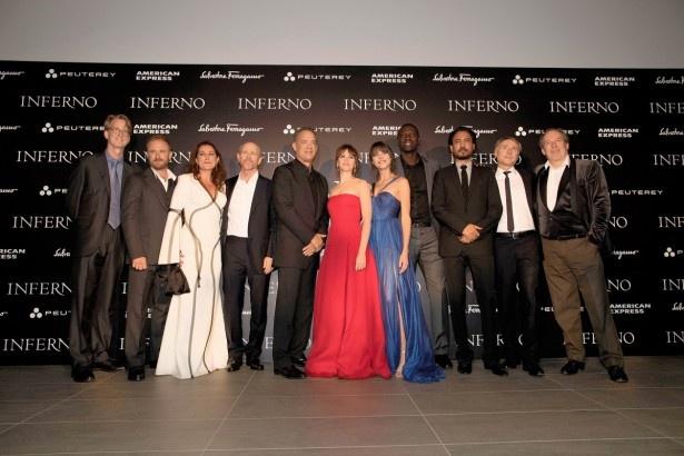 「インフェルノ」のワールドプレミアがイタリア・フィレンツェで行われた