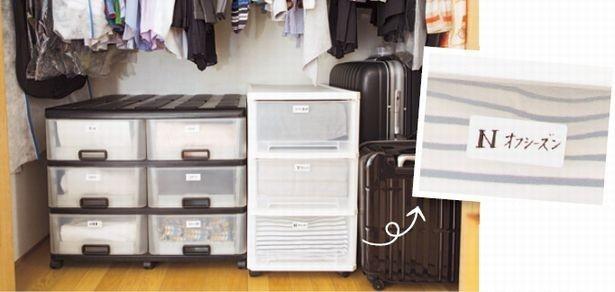 【写真を見る】オフシーズンのものは衣装ケースに収まるだけの定量で保管を