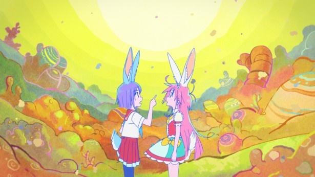 TVアニメ「フリップフラッパーズ」第2話先行カットが到着。転校生は……パピカ!