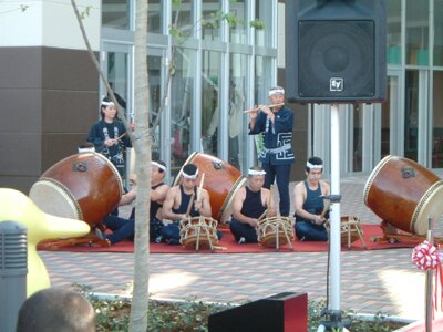 屋台囃子の太鼓演奏