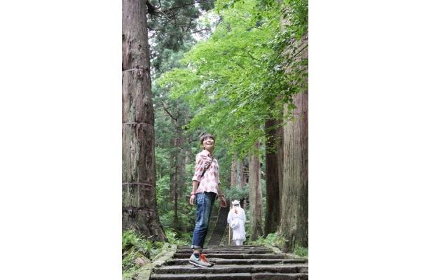 羽黒山の参道は夏でも涼しくて心地いい!