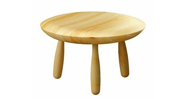 丸みを帯びたテーブルはありそうでないデザイン感!