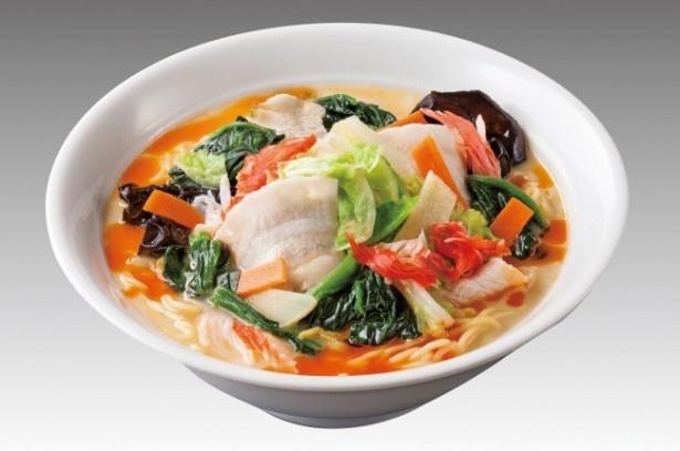 1日に必要な野菜の摂取量の1/3を使用した「麻辣湯麺(マーラータンメン)」