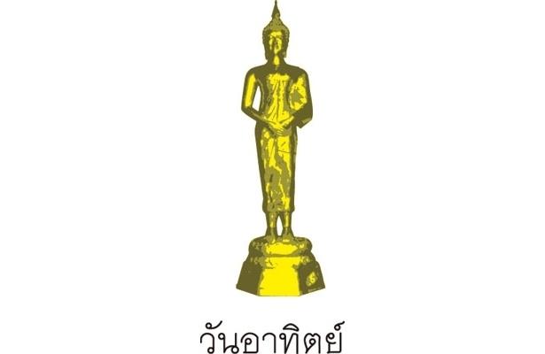 """タイでメジャーな""""曜日占い""""には仏像も!コレは日曜日を示す仏像"""