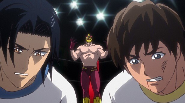 TVアニメ「タイガーマスクW」第1話場面カットが到着。2人の男が報復のために虎となる