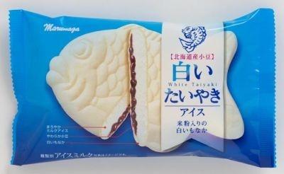 米粉使用で柔らかいモナカを実現!「白いたいやきアイス」