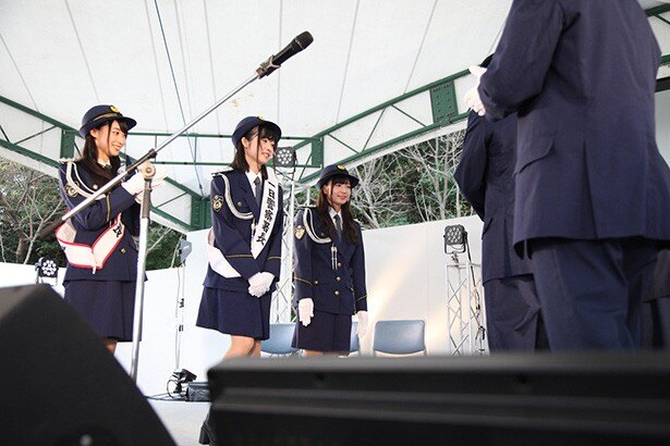 「Wake Up, Girls!」の3人が街の安全を守ります!徳島東警察署一日署長委嘱式【マチ★アソビVol.17】