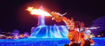 高さ6.5m全長13mかつ、本物の炎との連動、LEDを搭載した光る巨大なロボット型のドラゴンがハウステンボスに登場!