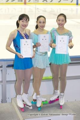 ジュニア選手権女子の表彰式。今季のジュニア女子は西日本勢が圧倒的に優位だが、東京代表として全日本ジュニアでの健闘を祈りたい