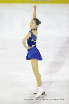 演技を終えた松岡あかり。東京ブロックでは悔しい思いをしたが、全日本ノービスでは彼女の本来の演技を見せてもらいたい