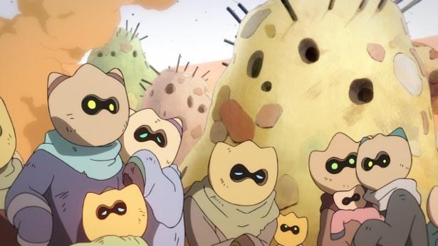 「フリップフラッパーズ」第3話先行カットが到着。次なる敵は謎の鉄仮面!