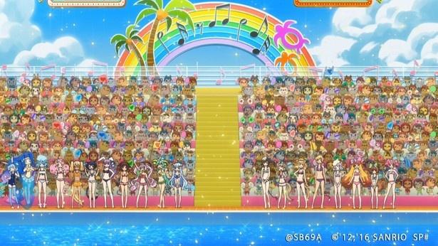 TVアニメ「SHOW BY ROCK!!#」第4話先行カットが到着。プラズマジカとクリティクリスタが水着でバトル!