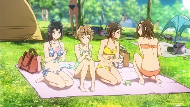 「響け!ユーフォニアム2」第2話の場面カットが到着。休日のプールで見かけたのは…