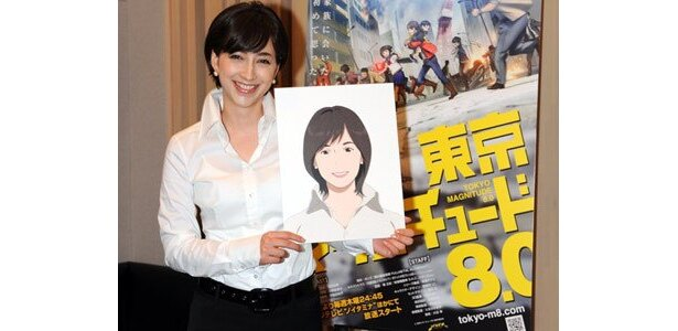 アナウンサー役で滝川クリステルさんもアニメに登場して話題に