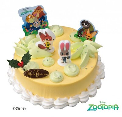 【写真を見る】サーティワンのクリスマスケーキ予約&販売開始!映画『ズートピア』のキャラクターたちが可愛い「ファンタスティック'ズートピア'」(参考価格・3400円)