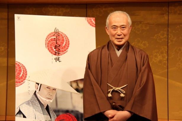 「鬼平犯科帳 THE FINAL」の記者会見が行われ、長谷川平蔵を演じる中村吉右衛門らが登壇した