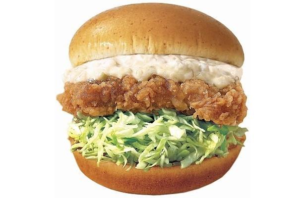 香港の「サクサクチキンバーガー」。チキン南蛮バーガーにちょっと似てるかも