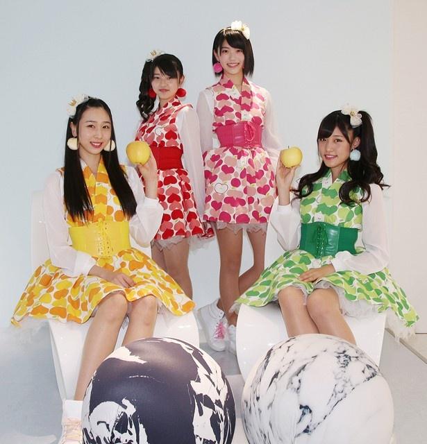りんご娘が「musicるTV」にマンスリーゲストとして出演。収録のため東京にやって来た4人に話を聞いた