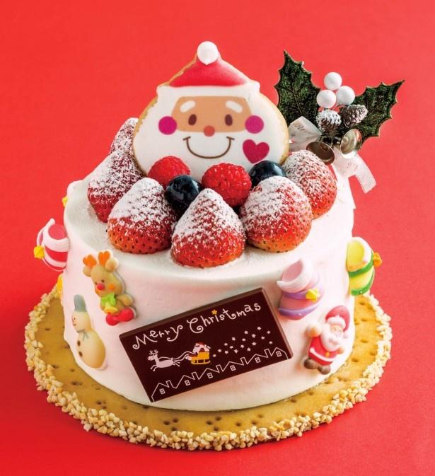 【写真を見る】サンタの笑顔が可愛いスペシャルケーキ クリスマス・シフォン3500円