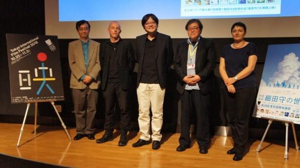トークショーに出席した3氏は細田監督の作品制作に興味を抱いたようだった