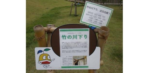 記事本文でもご紹介している「竹の川下り」です