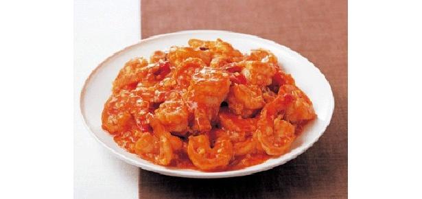 プリプリのえびの甘味が引き立つ、干焼蝦仁(カンシャオシャーレン)
