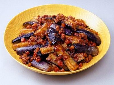 「うちのごはん」の「なすの肉味噌炒め」。う〜ん、ご飯の進む一品だ!