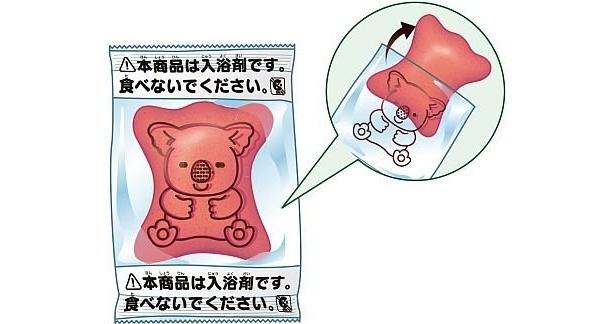 いちご&ミルクの香りの入浴剤はピンク色